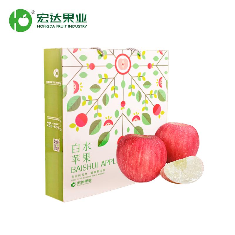 【宏达果业】白水红富士-12粒