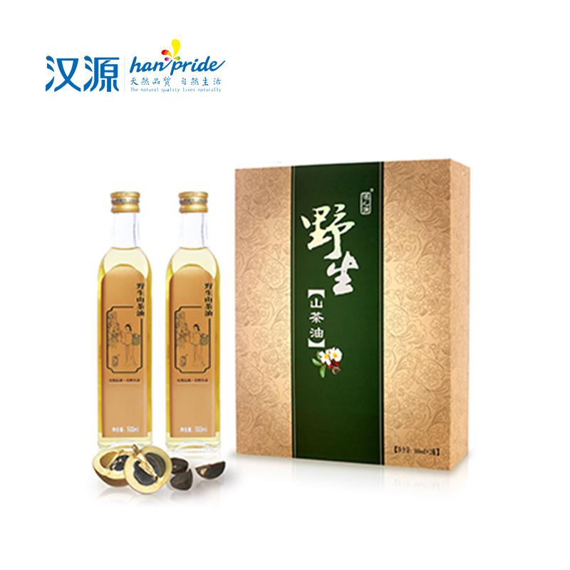 【汉源】汉之源野生山茶油(简约富贵礼盒)500ml×2瓶